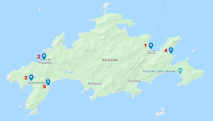 Mejor zona para alojarse en Ilha Grande
